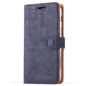Vintage Navy Leather Wallet - Samsung Galaxy A3 (2017) - Snakehive