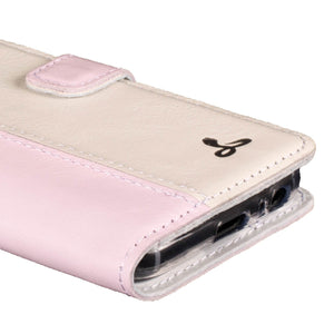 Blush and Porcelain Pastel Leather Case - Samsung Galaxy A3 (2017) - Snakehive