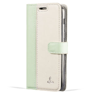Mint Green and Porcelain Leather Case - Samsung Galaxy A3 (2017) - Snakehive