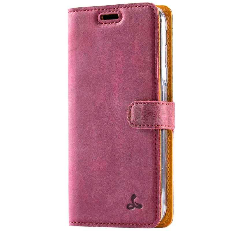 Vintage Plum Leather Wallet - Samsung Galaxy J3 (2017) - Snakehive