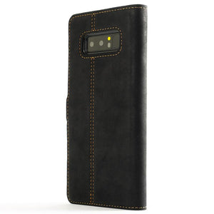 Vintage Two Tone Black/Plum Leather Wallet - Samsung Galaxy Note 8 - Snakehive