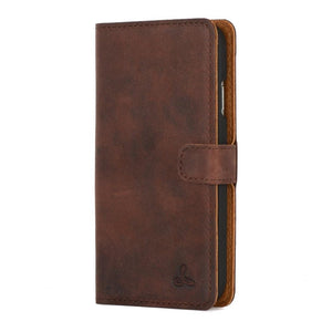 Vintage Chestnut Brown Leather Wallet - Samsung Galaxy S4 - Snakehive
