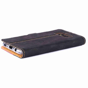 Vintage Two Tone Black/Burgundy Leather Wallet - Samsung Galaxy S8 - Snakehive