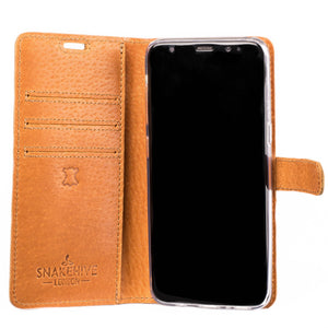 Vintage Burnt Orange Leather Wallet - Samsung Galaxy S8 - Snakehive