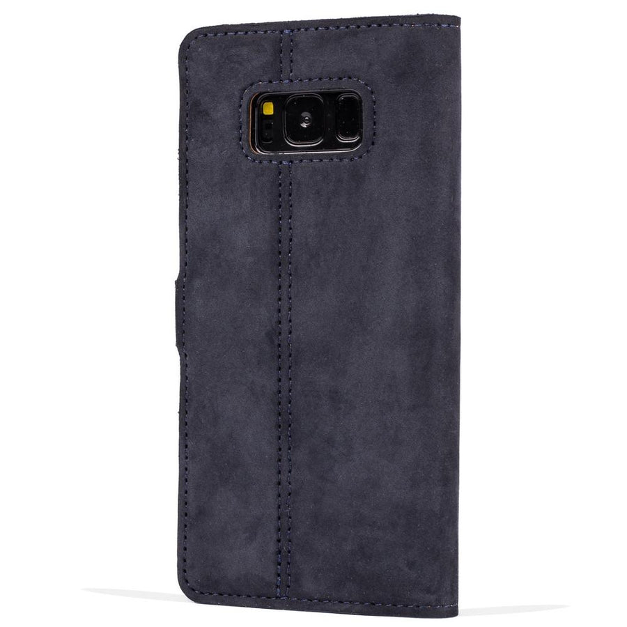 Vintage Navy Leather Wallet - Samsung Galaxy S8+ (Plus) - Snakehive