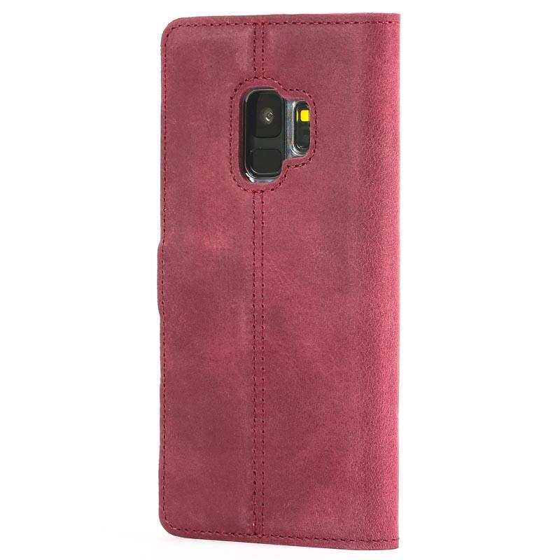 Vintage Plum Leather Wallet - Samsung Galaxy S9 - Snakehive
