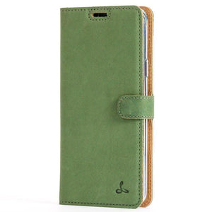 Vintage Bottle Green Leather Wallet - Samsung Galaxy S9 Plus - Snakehive