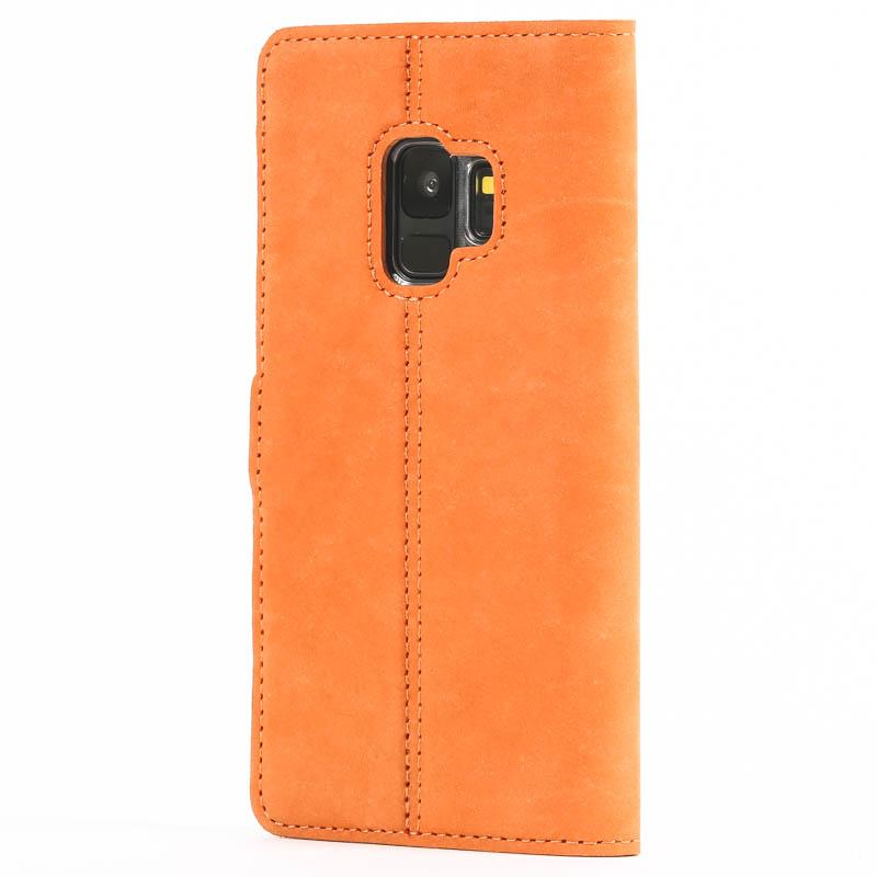 Vintage Burnt Orange Leather Wallet - Samsung Galaxy S9 - Snakehive