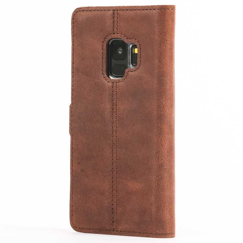 Vintage Chestnut Brown Leather Wallet - Samsung Galaxy S9 - Snakehive