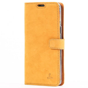Vintage Honey Gold Leather Wallet - Samsung Galaxy S9 - Snakehive