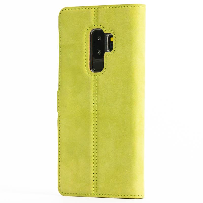 Vintage Moss Green Leather Wallet - Samsung Galaxy S9 Plus - Snakehive