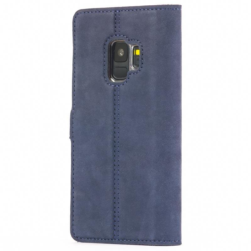 Vintage Navy Leather Wallet - Samsung Galaxy S9 - Snakehive