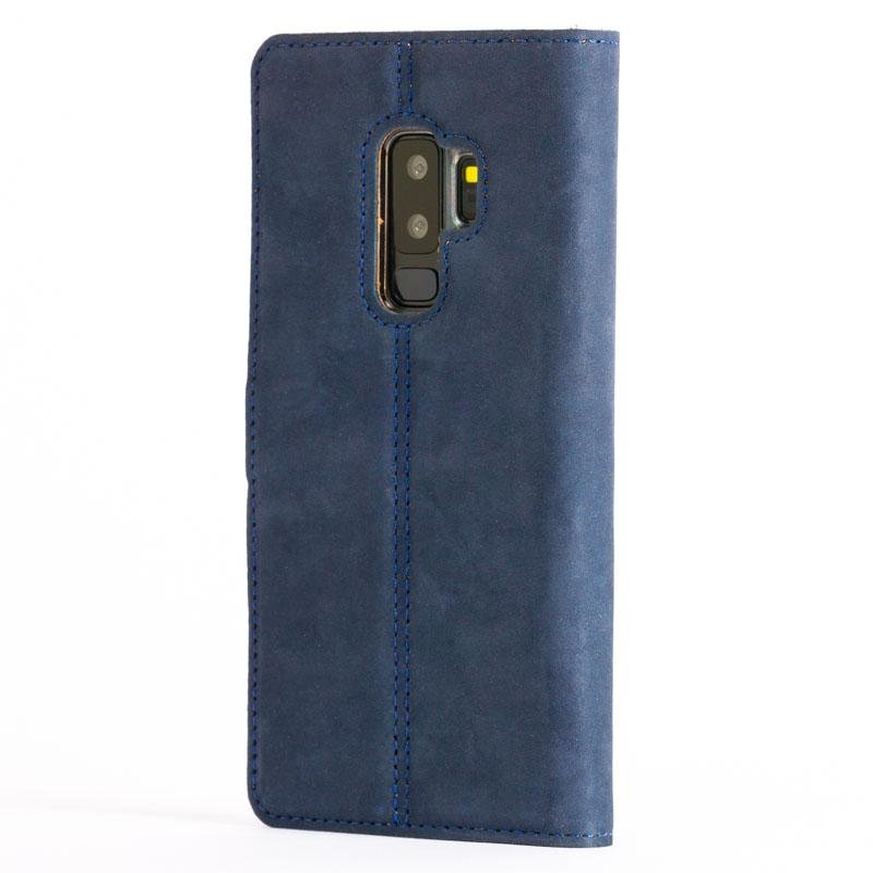 Vintage Navy Leather Wallet - Samsung Galaxy S9 Plus - Snakehive