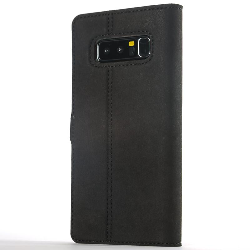Vintage Black Leather Wallet - Samsung Galaxy Note 8 - Snakehive