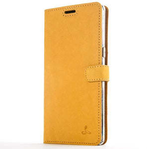 Vintage Honey Gold Leather Wallet - Samsung Galaxy Note 8 - Snakehive