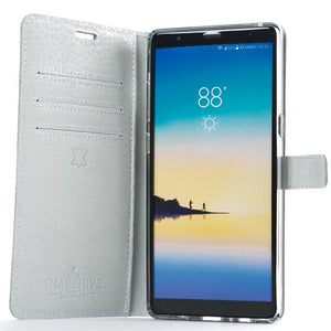 Peach Pastel Leather Case - Samsung Galaxy Note 8 - Snakehive