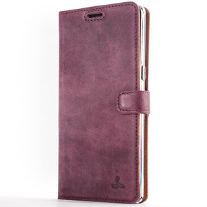 Vintage Plum Leather Wallet - Samsung Galaxy Note 8 - Snakehive