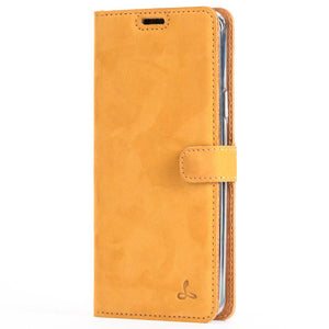 Vintage Honey Gold Leather Wallet - Samsung Galaxy S9 Plus - Snakehive