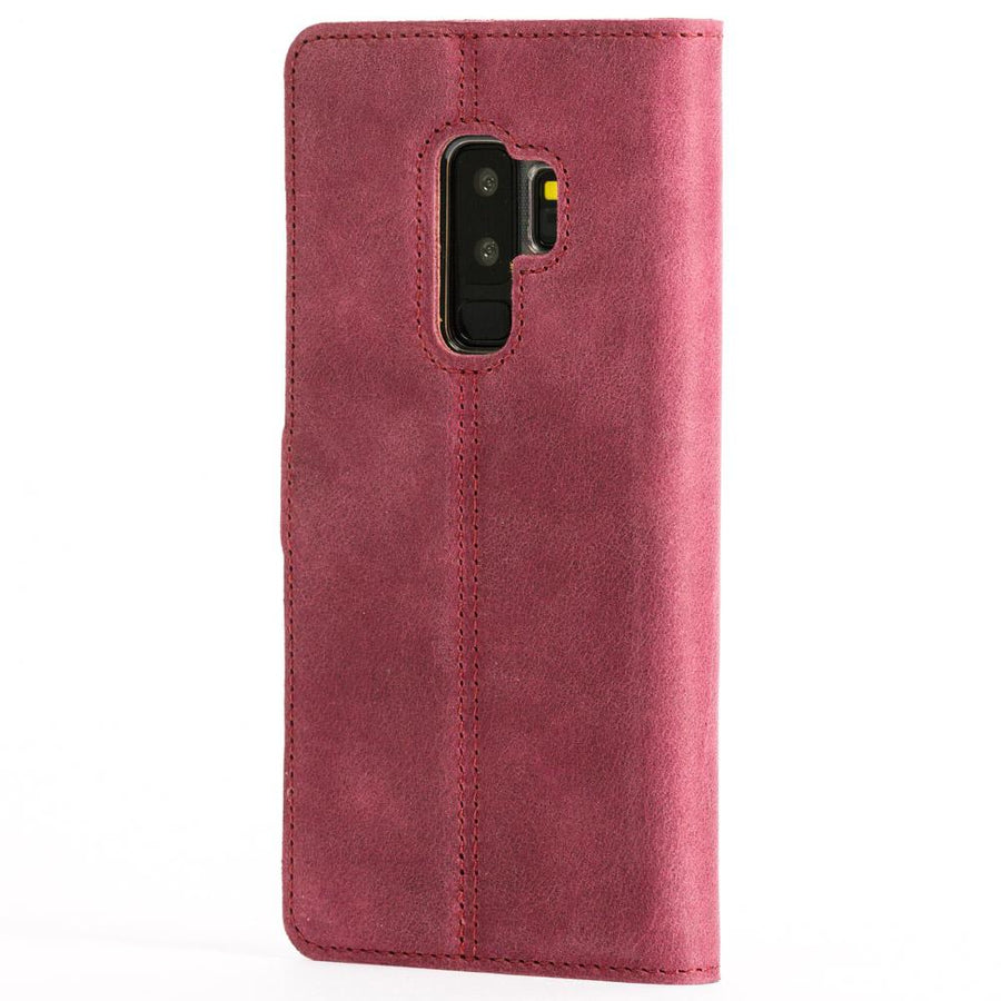 Vintage Plum Leather Wallet - Samsung Galaxy S9 Plus - Snakehive