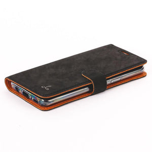 Vintage Black Leather Wallet - Samsung Galaxy S9 - Snakehive