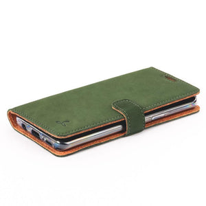 Vintage Bottle Green Leather Wallet - Samsung Galaxy S9 - Snakehive