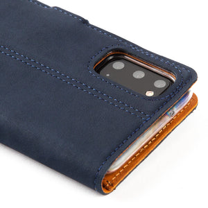 Vintage Leather Case Navy - Samsung Galaxy S20