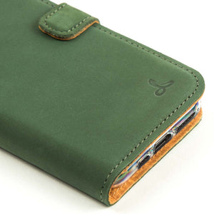 Vintage Leather Case Green - Apple iPhone 11 Pro