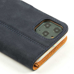 Vintage Leather Case Navy - Apple iPhone 11 Pro