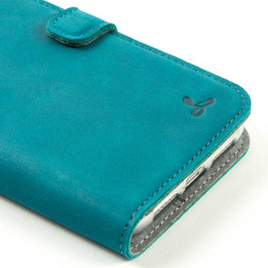 Vintage Leather Case Turquoise - Apple iPhone 11