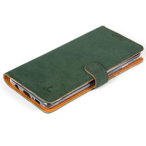 Vintage Leather Case Green - Samsung Galaxy S10 Plus