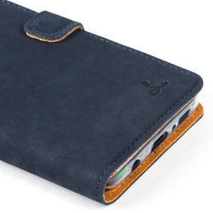 Vintage Leather Case Navy - Samsung Galaxy S10