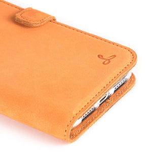Vintage Funda de cuero	Naranja - Apple iPhone XR