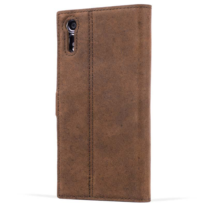 Vintage Brown Leather Wallet - Sony Xperia XZ - Snakehive