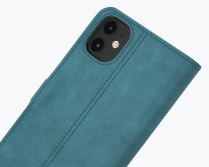Vintage Leather Case Turquoise - Apple iPhone 12 Pro