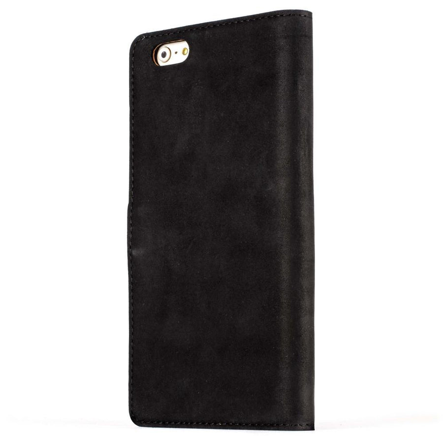 Vintage Black Leather Wallet - Apple iPhone 6 Plus/6S Plus - Snakehive