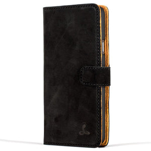 Vintage Black Leather Wallet - Samsung Galaxy A3 (2016) - Snakehive