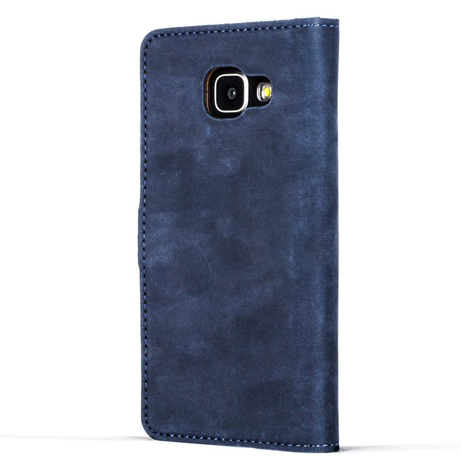 Vintage Navy Leather Wallet - Samsung Galaxy A3 (2016) - Snakehive
