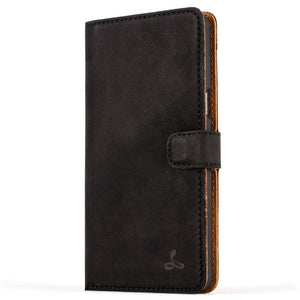 Vintage Black Leather Wallet - Samsung Galaxy A5 (2016) - Snakehive