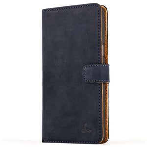 Vintage Navy Leather Wallet - Samsung Galaxy A5 (2016) - Snakehive