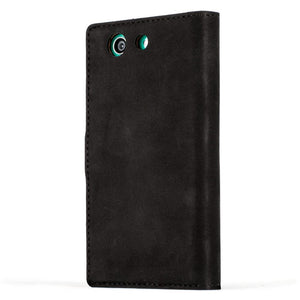 Vintage Black Leather Wallet - Sony Xperia Z3 Compact - Snakehive