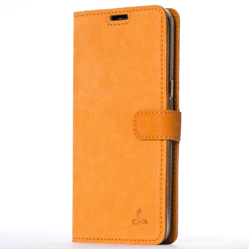Vintage Burnt Orange Leather Wallet - Samsung Galaxy S8+ (Plus) - Snakehive
