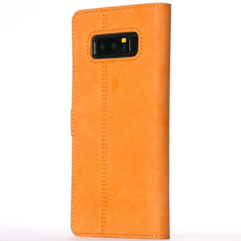 Vintage Burnt Orange Leather Wallet - Samsung Galaxy Note 8 - Snakehive