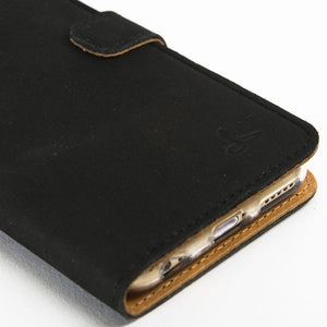 "Vintage Black Leather Wallet - Apple iPhone 6/6S (4.7"") - Snakehive"