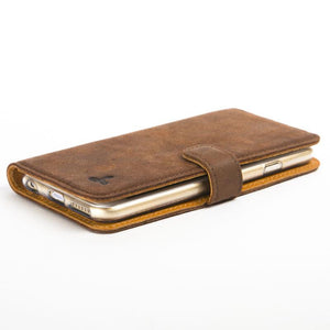 "Vintage Chestnut Brown Leather  Wallet - Apple iPhone 6/6S (4.7"") - Snakehive"