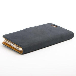 "Vintage Navy Leather  Wallet - Apple iPhone 6/6S (4.7"") - Snakehive"