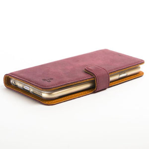 "Vintage Plum Leather  Wallet - Apple iPhone 6/6S (4.7"") - Snakehive"