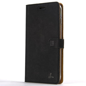 Vintage Black Leather Wallet - Apple iPhone 7 Plus - Snakehive