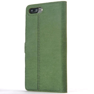 Vintage Bottle Green Leather Wallet - Apple iPhone 8 Plus - Snakehive
