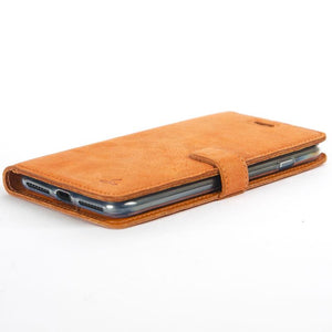 Vintage Burnt Orange Leather Wallet - Apple iPhone 8 Plus - Snakehive