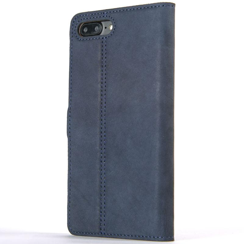 Vintage Navy Leather Wallet - Apple iPhone 8 Plus - Snakehive